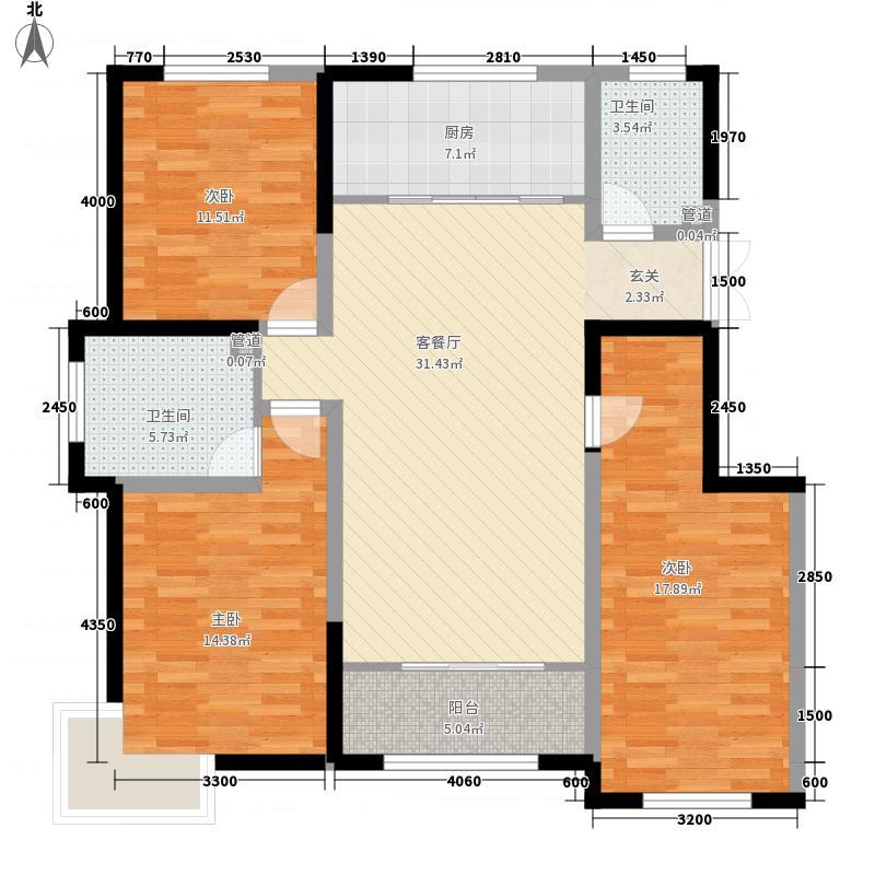 银滩雅苑132.37㎡户型3室