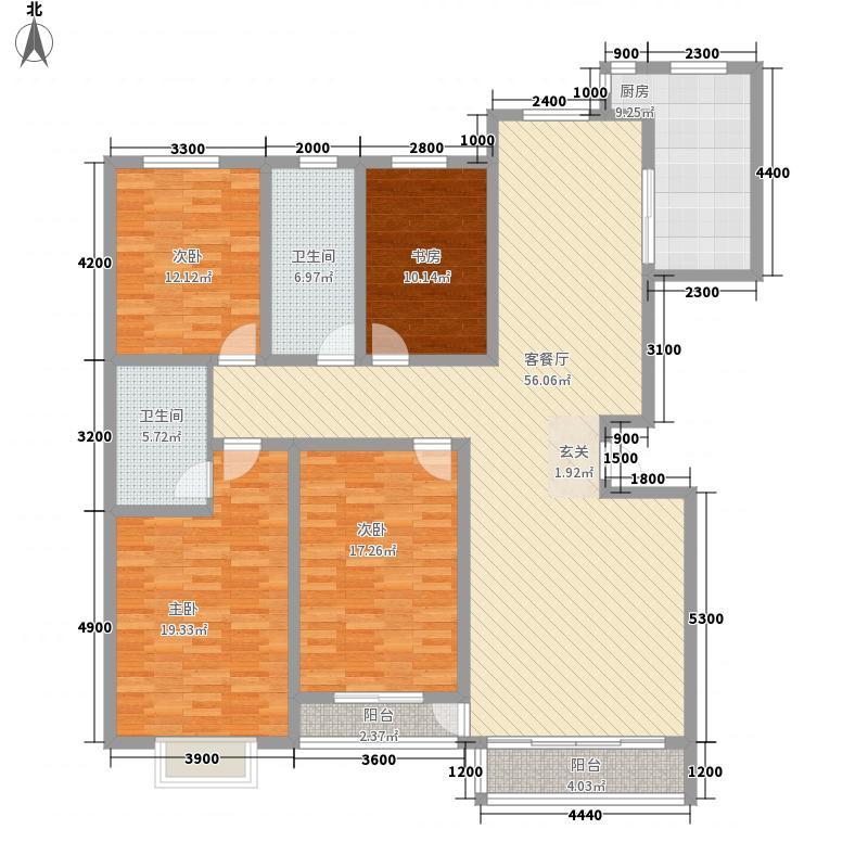 乌兰小区1户型4室2厅2卫1厨