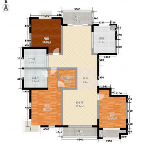 太阳都市花园3室1厅2卫1厨190.00㎡户型图