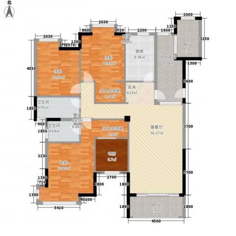 曲江城市花园4室1厅2卫1厨162.00㎡户型图