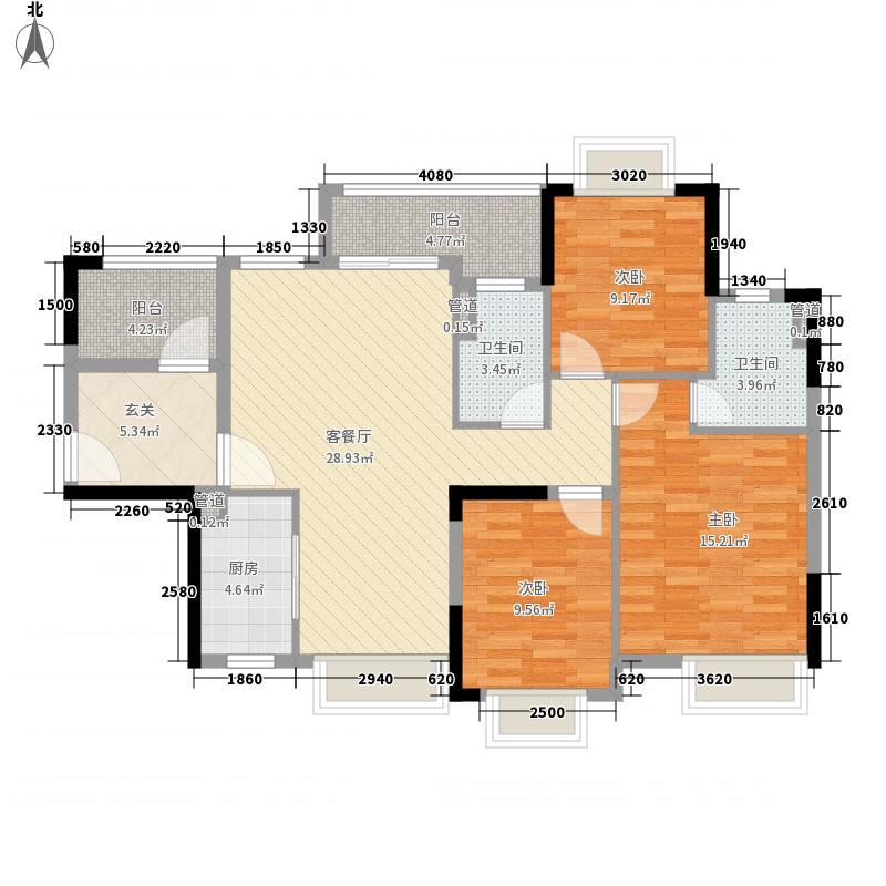 锦龙湾畔花园11.00㎡E户型4室2厅2卫1厨