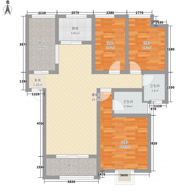 华瑞紫桂苑121.00㎡户型3室