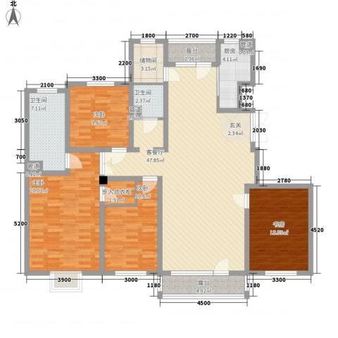中国铁建梧桐苑4室1厅2卫1厨183.00㎡户型图