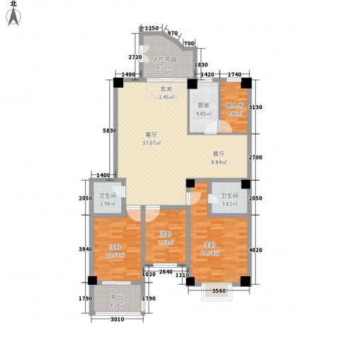 泛华盛世3室1厅2卫1厨139.00㎡户型图