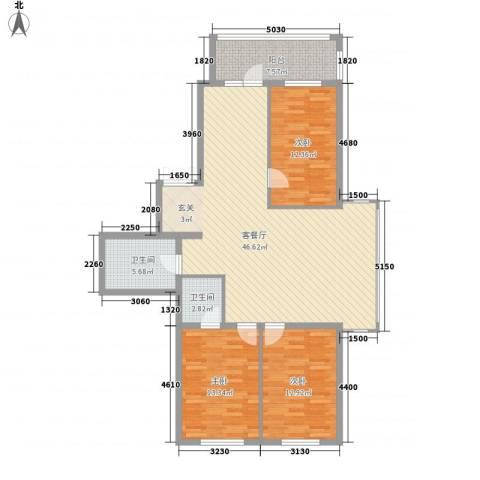 闻达绿都3室1厅2卫0厨101.31㎡户型图