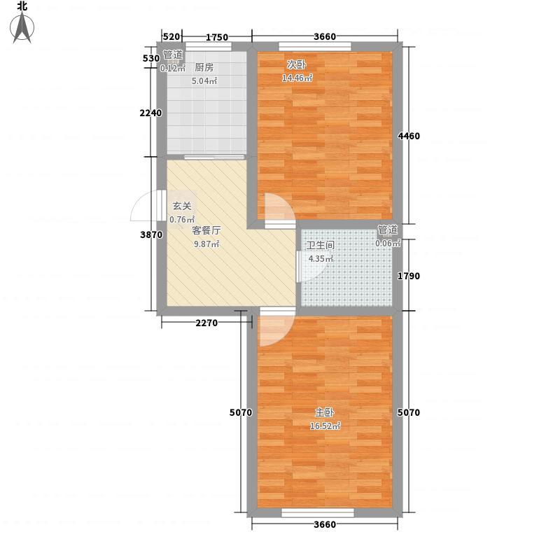 盛阳华苑7.12㎡F2户型2室1厅1卫1厨