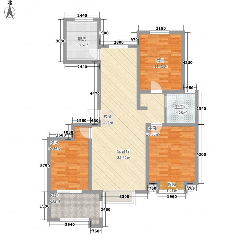 四建金海花园127.00㎡13#14#楼G户型3室2厅1卫1厨