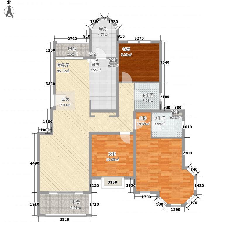 梵顿公馆147.00㎡5#N户型3室2厅2卫1厨