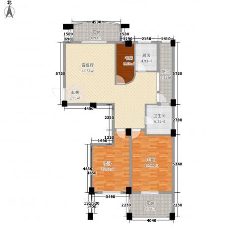仓山金山花园3室1厅1卫1厨130.00㎡户型图