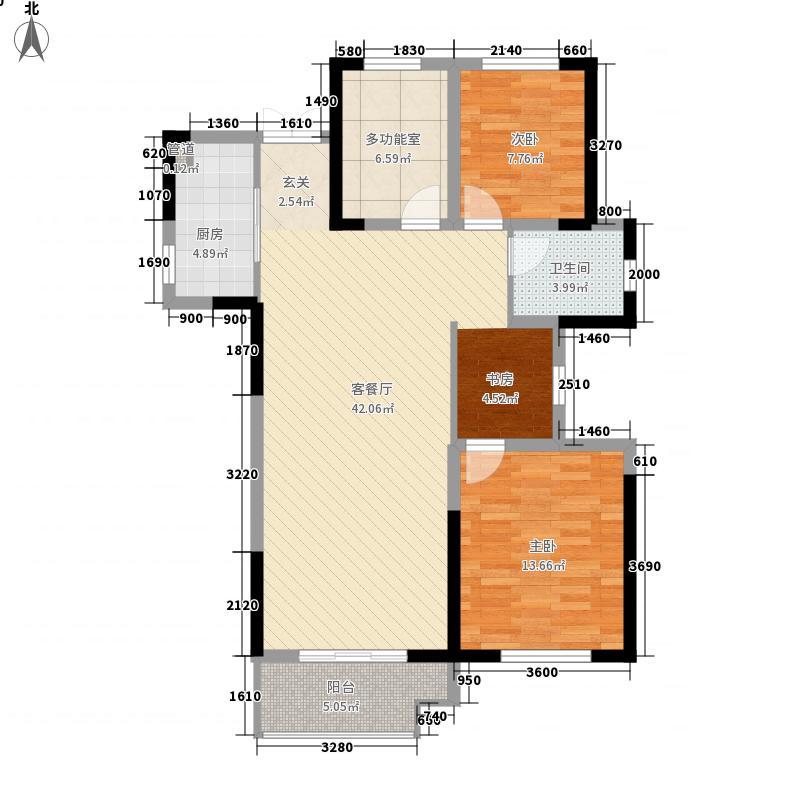 佳源巴黎都市2室1厅1卫1厨119.00㎡户型图