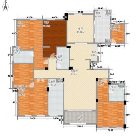 绿城玉兰花园・御园4室2厅4卫1厨312.00㎡户型图