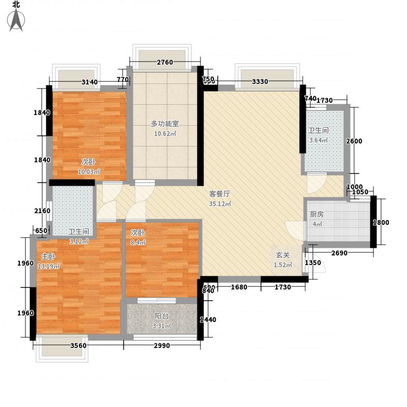 卓辉海港城112.53㎡5#05户型3室2厅2卫1厨