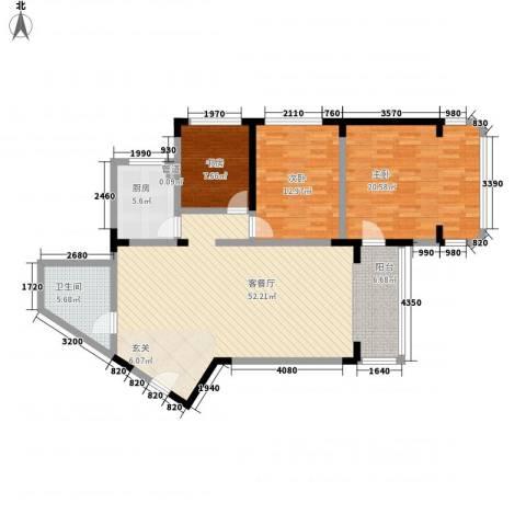 华脉新村3室1厅1卫1厨143.00㎡户型图
