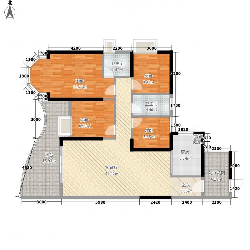 隆生・东湖9区4室1厅2卫1厨169.00㎡户型图