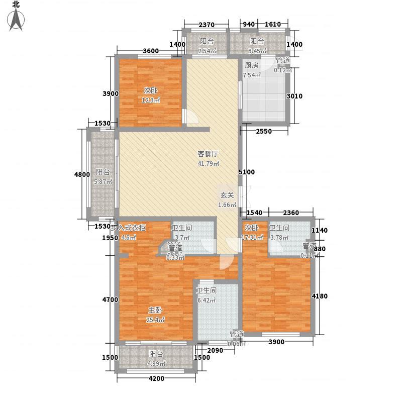 晋阳湖壹号186.81㎡A户型3室2厅3卫1厨