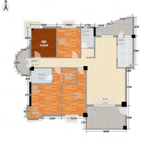 鼓浪湾4室1厅2卫1厨138.05㎡户型图