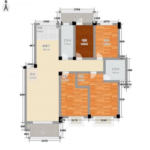 万博宇辉家园4室1厅2卫0厨142.00㎡户型图