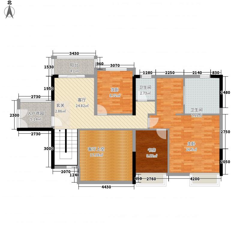 东方新城247.42㎡四期150栋0复式上户型5室3厅4卫