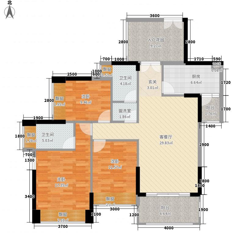 佳兆业中央豪门120.00㎡佳兆业中央豪门户型图9栋2-27层01、02户型图(售完)3室2厅2卫1厨户型3室2厅2卫1厨