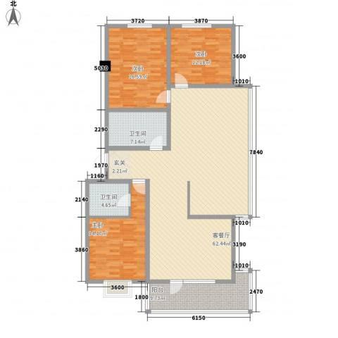 东区国际3室1厅2卫0厨178.00㎡户型图