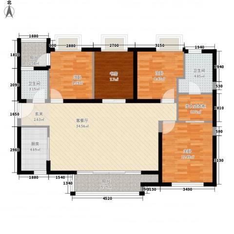 万科广场4室1厅2卫1厨137.00㎡户型图