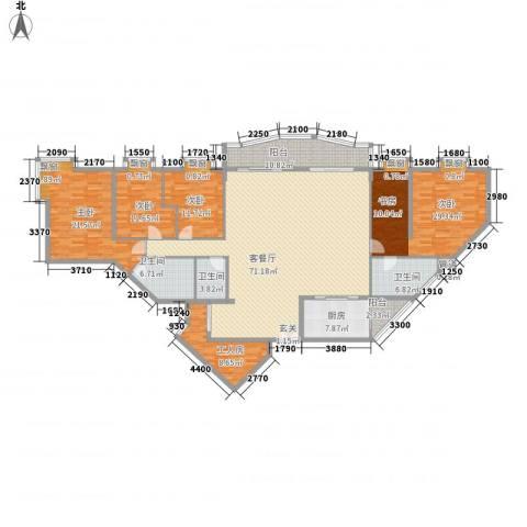 旗峰花园4室1厅3卫1厨268.00㎡户型图