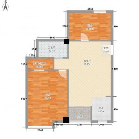 凯旋国际2室1厅1卫0厨72.67㎡户型图