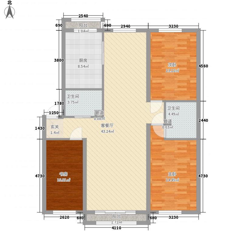 中毫鸿泰公馆1户型2室1厅1卫1厨