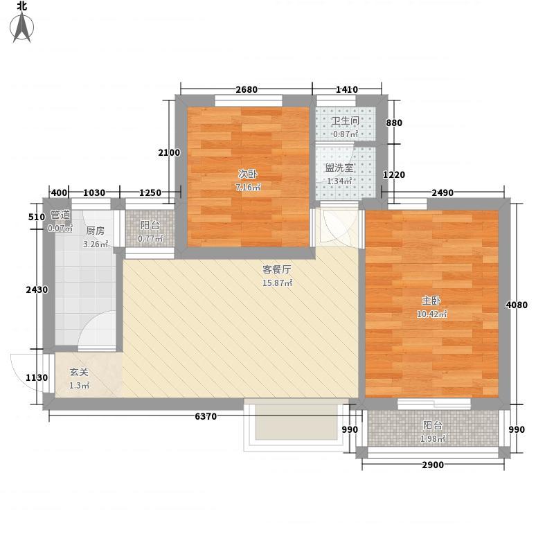 国风宿舍(汽车站)62.00㎡国风宿舍户型2室