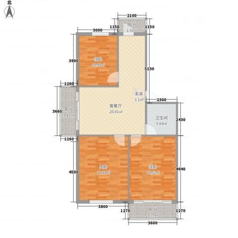 世纪雅苑3室1厅1卫0厨115.00㎡户型图