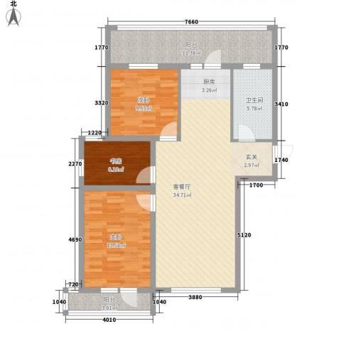 光伸卧龙港湾3室1厅1卫0厨120.00㎡户型图
