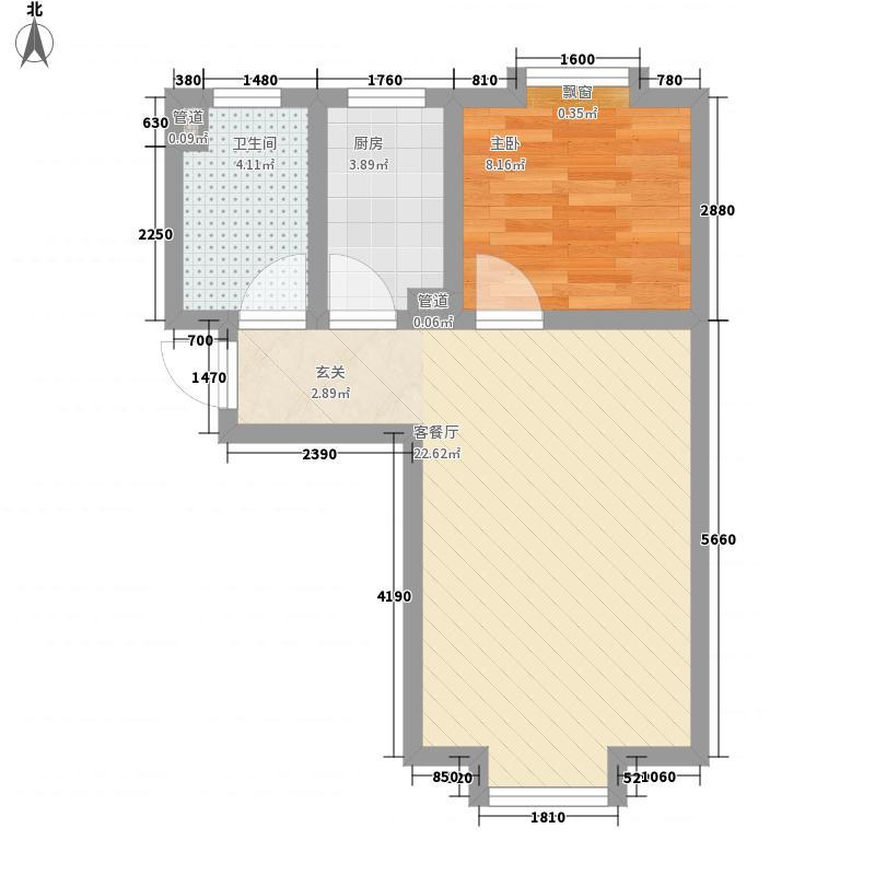 东岸酷博57.00㎡东岸酷博户型图A户型1室1厅1卫1厨户型1室1厅1卫1厨