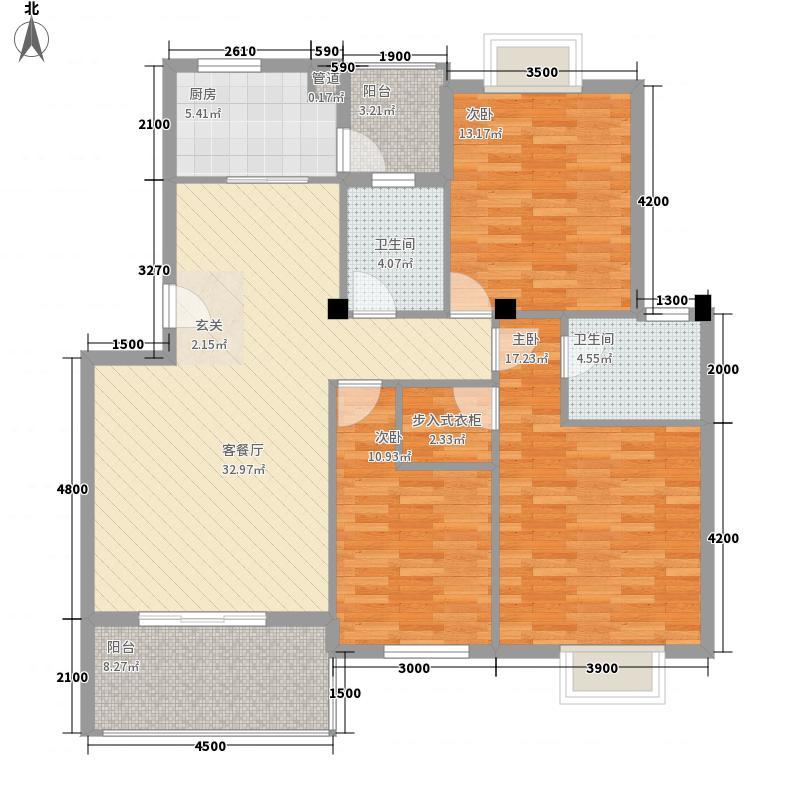 西彩8.00㎡小区户型3室
