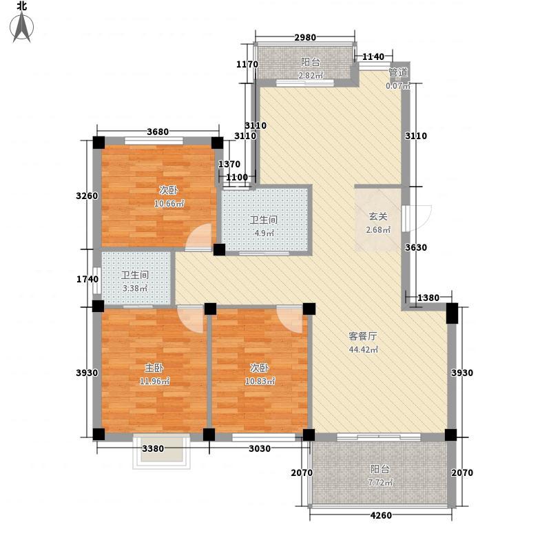 广博阳光丽园二期135.00㎡已售罄-小高层户型3室2厅1卫1厨