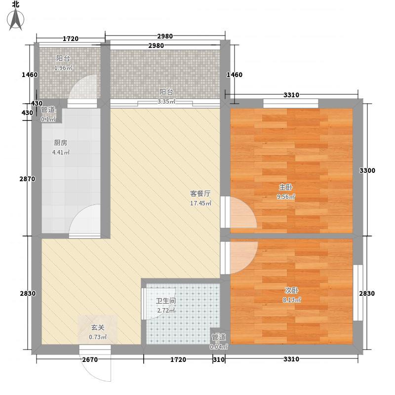 明光翡翠湾45.25㎡6#楼二单元户型