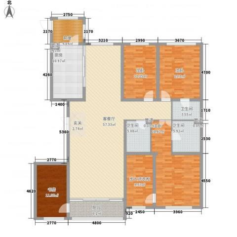 海富金棕榈4室1厅3卫1厨162.74㎡户型图