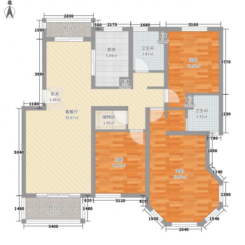 广汇PAMA143.00㎡户型3室