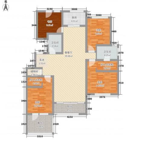自在山居4室1厅2卫1厨145.00㎡户型图