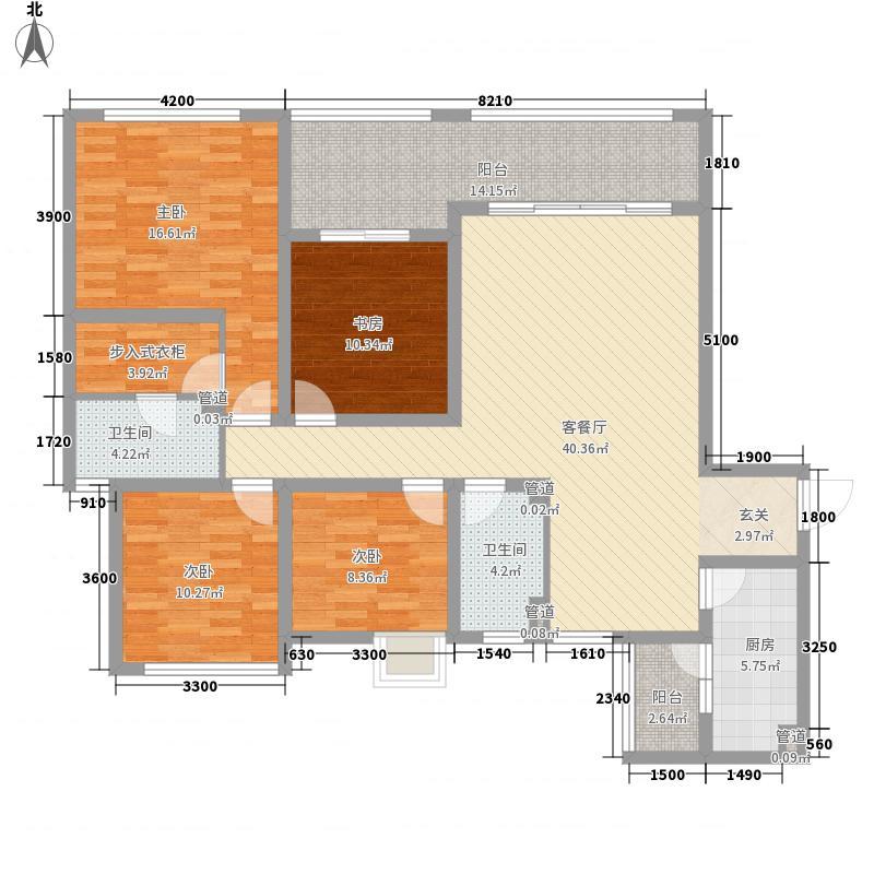 龙湖观山水145.00㎡户型4室