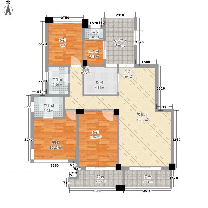 公园道一号128.00㎡公园道一号3室户型3室
