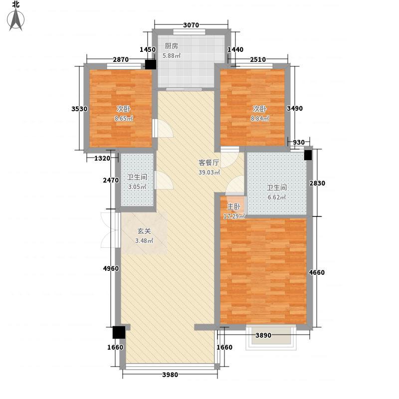 滨河小镇112.14㎡D-2、1#2#3#户型3室2厅2卫