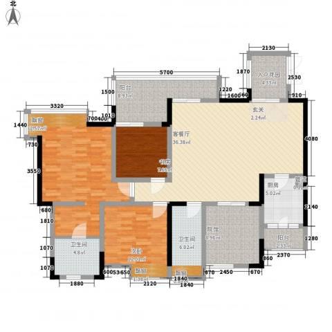 复地新城就3室1厅2卫1厨119.50㎡户型图