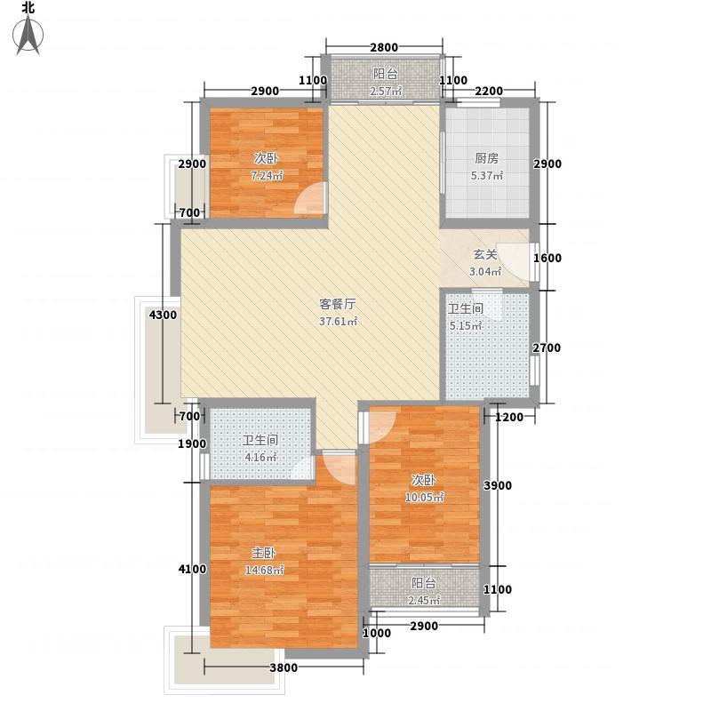 沈铁・达观13.00㎡B-139户型3室2厅2卫1厨
