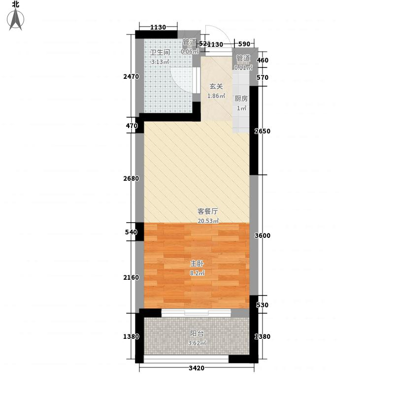 山水美地0室1厅1卫0厨45.00㎡户型图