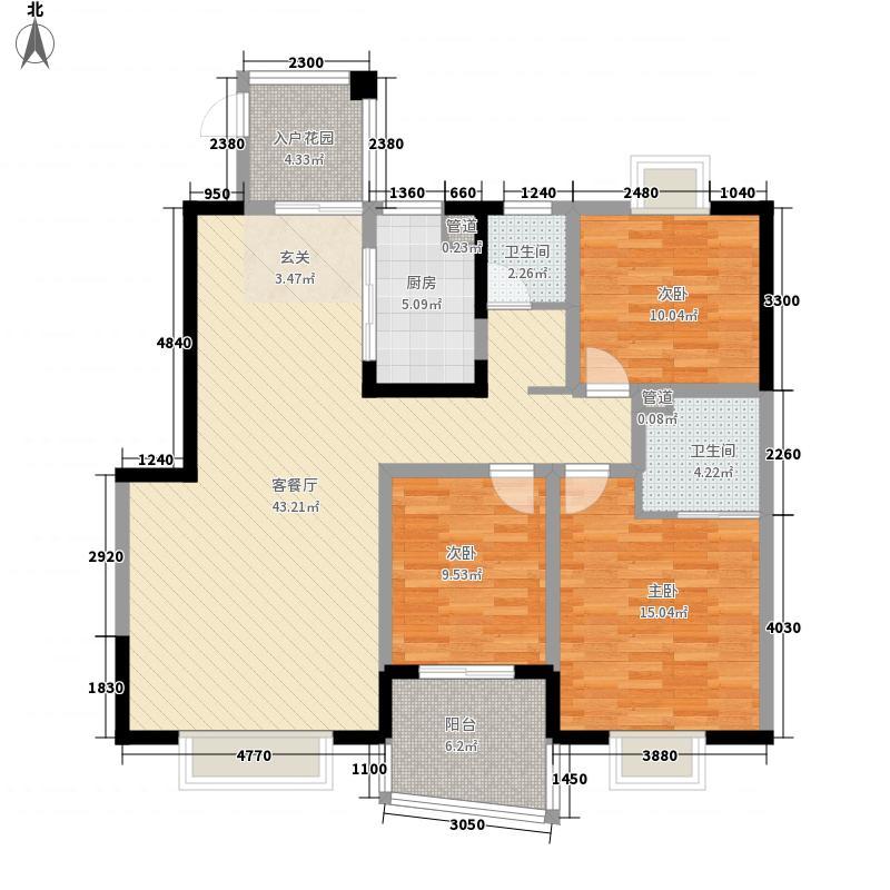 沙龙广场132.00㎡户型3室