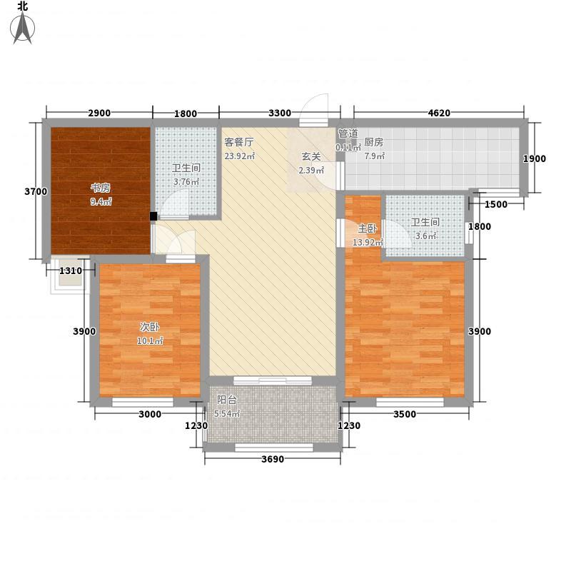水晶・卡芭拉6号楼2户型3室2厅2卫1厨
