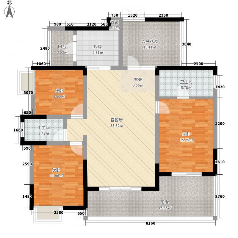 首创十方界121.00㎡户型3室