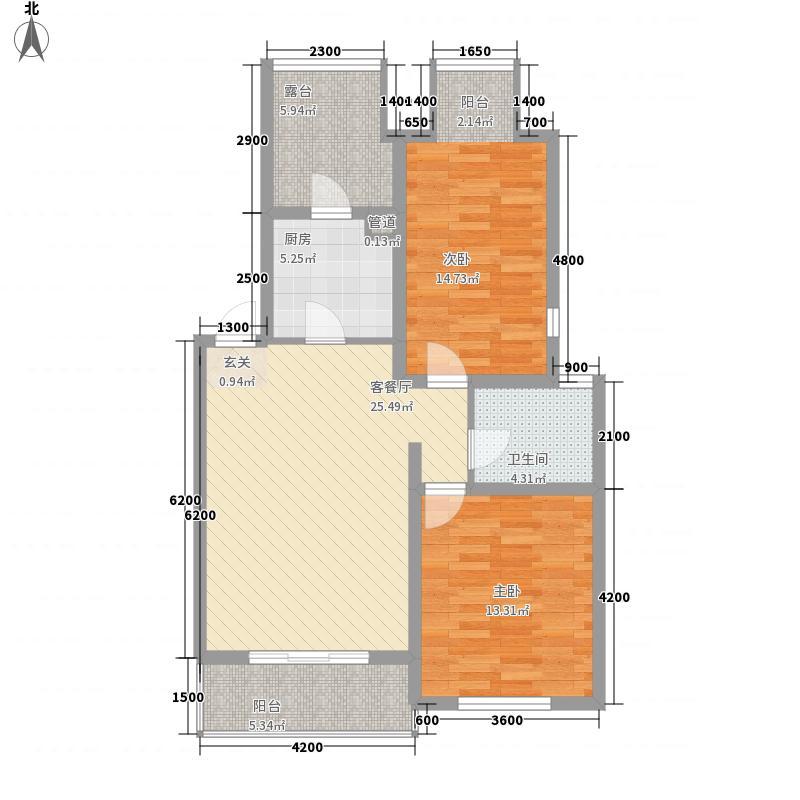 松海花园600x600_副本户型2室1厅1卫1厨