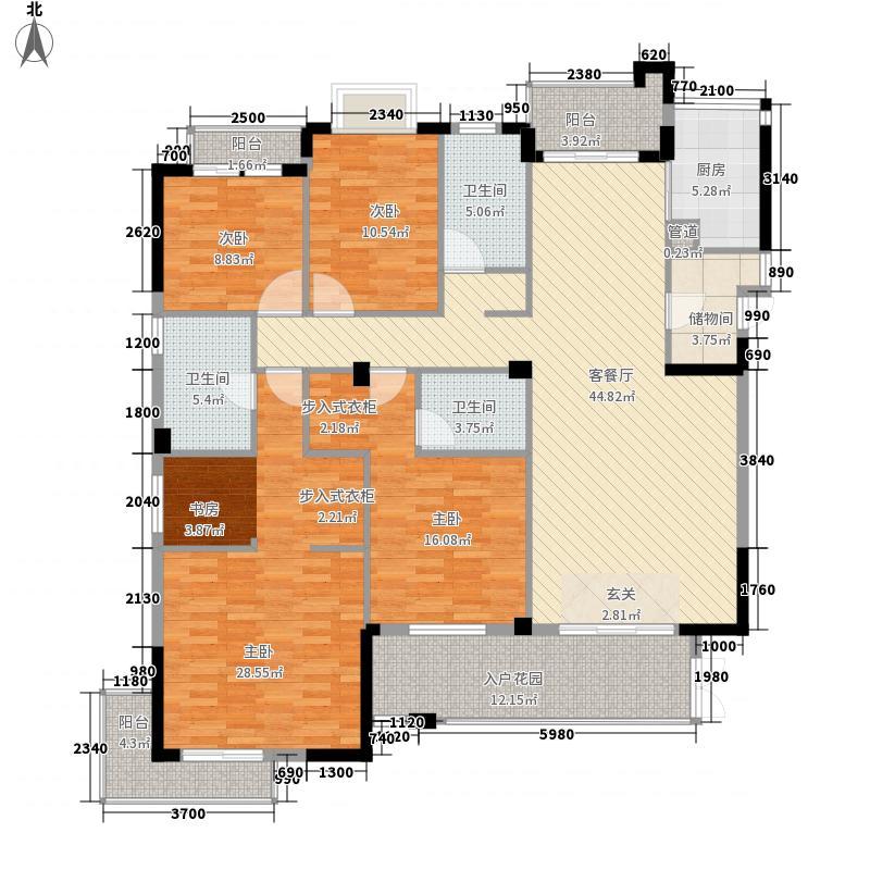 领世郡1号18.73㎡1#楼A户型4室2厅3卫1厨
