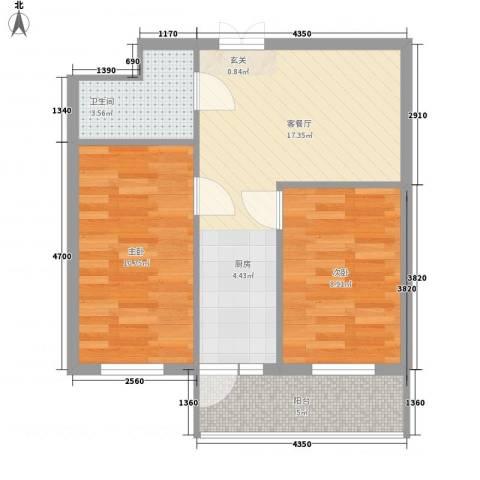 汇龙鑫阁2室1厅1卫0厨65.00㎡户型图